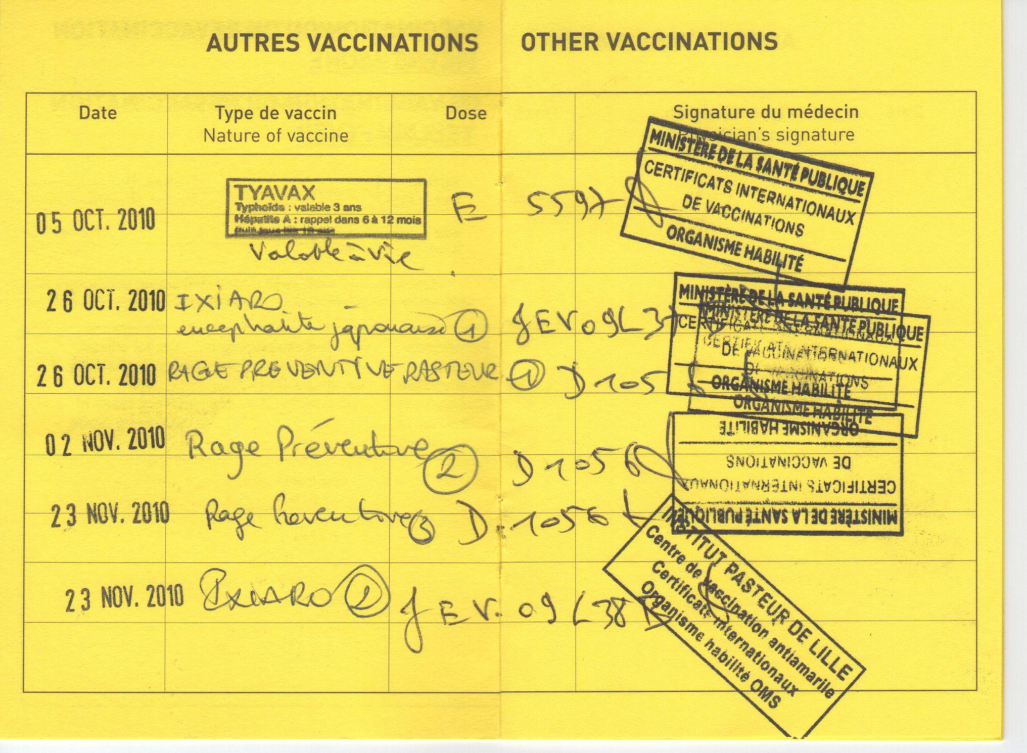 voyage maroc vaccin