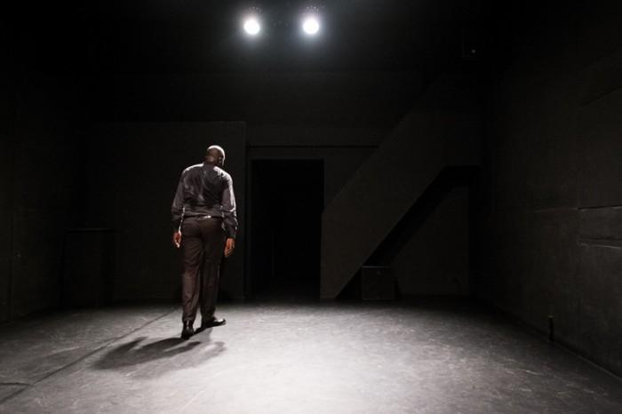 Jacques Martial, à la fin de la représentation du «Cahier d'un retour au pays natal» de Aimé Césaire
